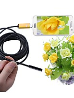 cheap -7mm Lens 2 In 1 USB Endoscope Camera 5M Cable Gold IP67 Waterproof Inspection Borescope Snake Cam for Windows Android