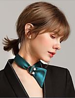 Жен. Ожерелья-бархатки Искусственный жемчуг Круглый Волокно Милая Милый Бижутерия Назначение Свидание