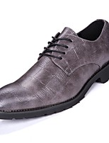 Masculino sapatos Micofibra Sintética PU Courino Couro Ecológico Inverno Conforto Oxfords Para Casual Preto Cinzento
