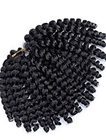 cheap -Jumpy Wand Curl Twist Jamaican Bounce Twist Braid Hair Extension 8inches ombre havana mambo twist crochet braids