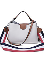 Women Bags PU Tote Zipper for Casual Office & Career All Season Black Milky White