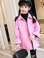 Girls' Solid Jacket & Coat Blushing Pink Yellow