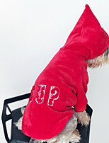 cheap -Dog Hoodie Dog Clothes Casual/Daily Letter & Number Red Costume For Pets