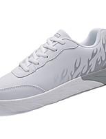 Недорогие -Для мужчин обувь Полиуретан Весна Осень Удобная обувь Кеды Назначение Белый Серый Синий