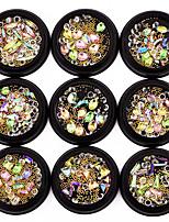 1pc psychedelia transparência perfuração transparente bola de aço misturada loading 9 estilo opcional