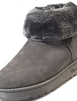 cheap -Women's Shoes Rubber Winter Snow Boots Boots Round Toe For Outdoor Light Brown Gray Black