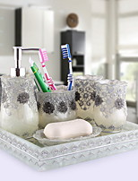 Soap Dispenser Toothbrush Cup Archaistic Resin Toothbrush Holder Free Standing