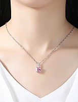 Women's Pendant Necklaces Cubic Zirconia Rhinestone Circle Crystal Cubic Zirconia Simple Elegant Jewelry For Wedding Evening Party