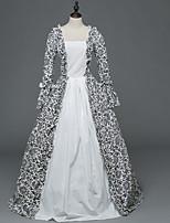 Vittoriano Rococò Donna Per adulto Vestito da Serata Elegante Stile Carnevale di Venezia Bianco Cosplay Satin elasticizzato Manica lunga