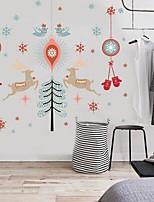 Noël Stickers muraux Chevalets Autocollants muraux décoratifs,Daim Matériel Décoration d'intérieur Calque Mural