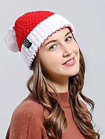 Для женщин Очаровательный Для вечеринки Широкополая шляпа,Зима Вязанная Однотонный Чистый цвет