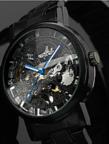 Men's Dress Watch Wrist watch Mechanical Watch Chinese Automatic self-winding Hollow Engraving Stainless Steel Band Luxury Casual Black