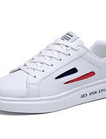preiswerte -Herren Schuhe PU Frühling Herbst Komfort Sneakers Für Normal Rot Schwarz/weiss Weiß/Blau