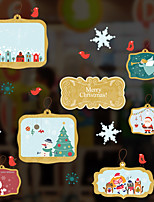 preiswerte -Tier Weihnachten Fenster-Aufkleber Stoff Fensterdekoration