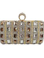 cheap -Women Bags Glasses PU Evening Bag Buttons Crystal Detailing for Wedding Event/Party All Season Gold Black Silver