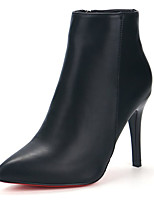abordables -Mujer Zapatos Goma Invierno Botas de Combate Botas Dedo Puntiagudo Para Negro