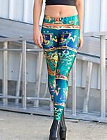 Mujer Medio Estampado Estampado Legging