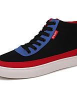preiswerte -Herren Schuhe Stoff Frühling Herbst Komfort Sneakers Für Normal Schwarz Grau Schwarz/Rot