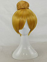 жен. Парики из искусственных волос Без шапочки-основы Короткий Прямой силуэт Блондинка Updo Парики для косплей Парики для вечеринки