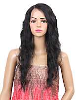 Women Synthetic Wig Lace Front Long Natural Wave Black Side Part Natural Wigs Costume Wig