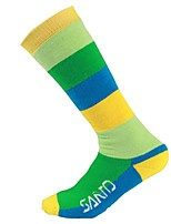 cheap -Stripe Ski Socks Women's Socks Winter Sweat-Wicking Breathability Cotton Blend Snow Sports Cross Country