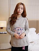 Nuisette & Culottes Pyjamas Femme,Imprimé Imprimé Polyester Rose Claire Gris Clair