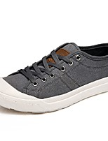 cheap -Men's Shoes PU Canvas Spring Fall Comfort Sneakers For Casual Dark Grey Gray Black
