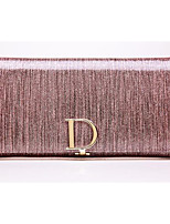Women Bags Cowhide Clutch Zipper for Casual All Season Gold Blushing Pink Light Grey