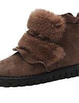 Недорогие -Для женщин Обувь Полиуретан Весна Осень Удобная обувь Ботинки Назначение Черный Зеленый Хаки