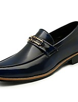 Men's Shoes Synthetic Microfiber PU Spring Fall Comfort Loafers & Slip-Ons For Office & Career Blue Red Yellow Black
