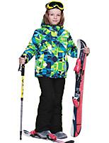 Phibee Skijacken & Hosen Jungen Skifahren Warm Schnelles Trocknung Wasserdicht warm halten Windundurchlässig Regendicht tragbar
