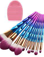 cheap -10 pcs Makeup Brush Set Synthetic Hair Eco-friendly Professional Full Coverage Plastic Eye Face Nose
