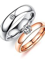 Femme Ensemble d'anneaux Strass Strass Acier au titane Bijoux Pour Mariage Soirée