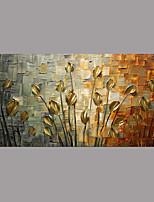 Pintados à mão Floral/Botânico Simples Rústico Modern 1 Painel Tela Pintura a Óleo For Decoração para casa
