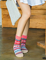 Women's Hosiery Warm Socks,Wool Multi Color 2pcs Lavender Blushing Pink