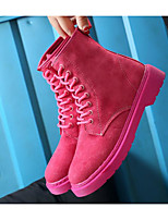 cheap -Women's Shoes PU Fall Winter Comfort Combat Boots Boots For Casual Pink Black