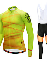 Cycling Jersey with Bib Tights Men's Long Sleeves Bike Bib Tights Tights Pants / Trousers Jersey Top Clothing Suits Quick Dry Windproof