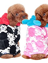 Dog Jumpsuit Dog Clothes Casual/Daily Cartoon Pink Coffee Black Costume For Pets