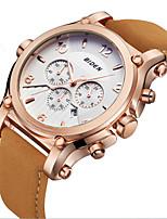Недорогие -Муж. Наручные часы Повседневные часы Модные часы Китайский Кварцевый Календарь Повседневные часы Кожа Группа На каждый день Elegant