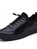 Недорогие -Для мужчин обувь Кожа Зима Удобная обувь Кеды Назначение Повседневные Черный