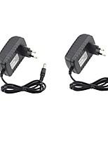 2pcs 12V 2A Power Adapter 100V-240V AC 12V 2A DC Power Supply Plug In Switching EU/US Plug for Strips Light