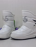 Недорогие -Девочки обувь Полиуретан Зима Зимние сапоги Ботинки Сапоги до середины икры для Повседневные Белый Черный Красный Розовый