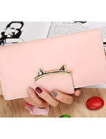 Women Bags PU Wallet Buttons Tassel for Casual Office & Career All Season Blue Black Blushing Pink Gray Light Purple