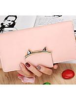 cheap -Women Bags PU Wallet Buttons Tassel for Casual Office & Career All Season Blue Black Blushing Pink Gray Light Purple