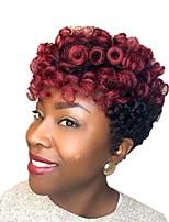 """economico -Trecce Crochet pre-ciclo Trecce di capelli Bouncy Curl Riccio stile Kenzie 51cm 10"""" Nuovo arrivo Treccine afro Capelli sintetici Nero /"""