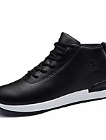 cheap -Men's Shoes PU Spring Fall Comfort Sneakers For Casual Red Brown Black