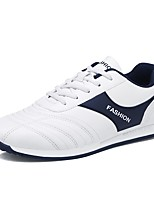 cheap -Men's Shoes PU Spring Fall Comfort Sneakers for Casual Outdoor White Black Blue