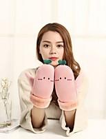 economico -Da donna Inverno Tipi di pelli speciali Romantico Casual Al polso Senza dita,Solidi Rosa