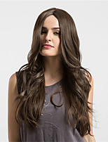 Women Synthetic Wig Brown  Long Wavy  Middle Part Comfortable wig