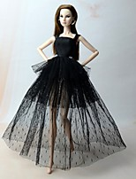cheap -Dresses Dresses For Barbie Doll Black (iPhone4) Dresses For Girl's Doll Toy